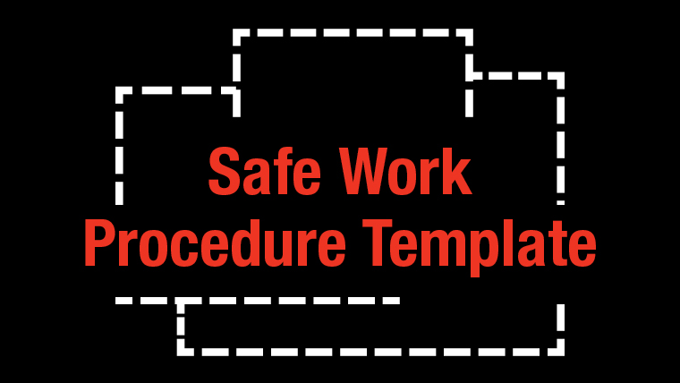 link to Safe Work Procedure Template for working alone